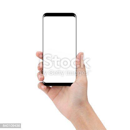 istock mock up phone in holding hand isolated on white background clipping path inside 840109436