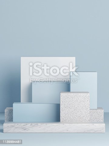 1079254746istockphoto Mock up podium, abstract background, copy space 1139994481