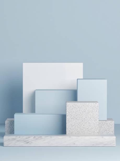 Podium verspotten, abstrakter Hintergrund, Kopierraum – Foto