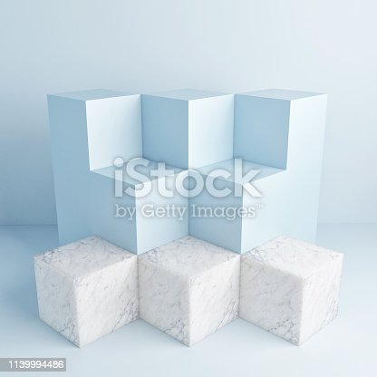 1079254746istockphoto Mock up podium, abstract background, copy space 1139994486