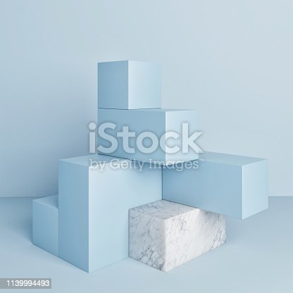 1079254746istockphoto Mock up podium, abstract background, copy space 1139994493