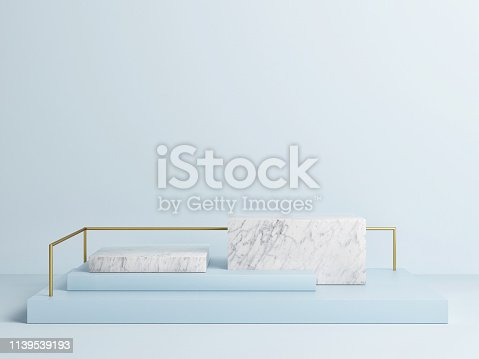 istock Mock up podium abstract concept design, blue background 1139539193