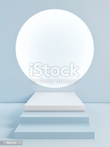 istock Mock up podium abstract scene, background light 1168059772