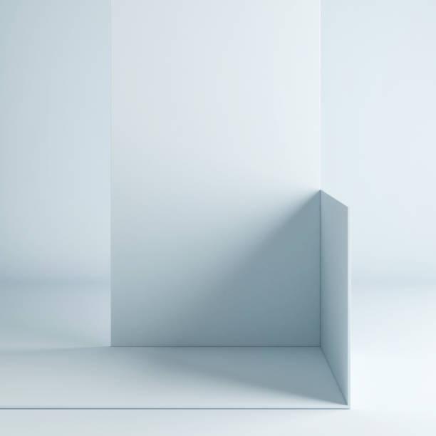 Mock up Podium abstrakten Raum für Präsentation Produkte, Hintergrund blauen Vorhang – Foto