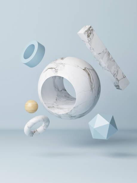 Mock up Podium in abstrakten blauen Komposition, – Foto