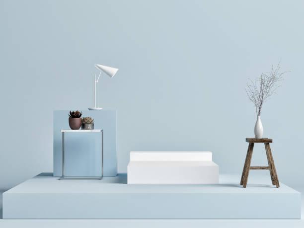Mock up Podiumsstudio mit Dekoration – Foto