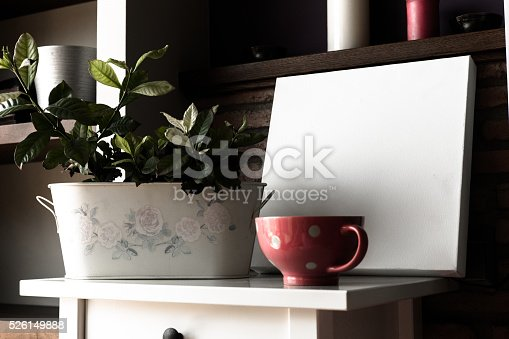 619975932 istock photo Mock up poster for your artwork, interior composition 526149888