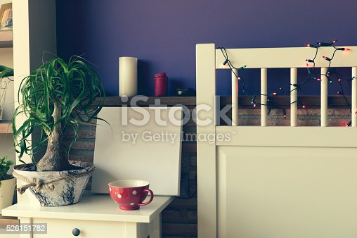 619975932 istock photo Mock up poster for your artwork, interior composition 526151782