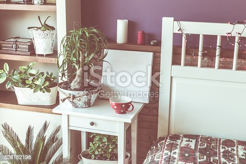 619975932 istock photo Mock up poster for your artwork, interior composition 526152198