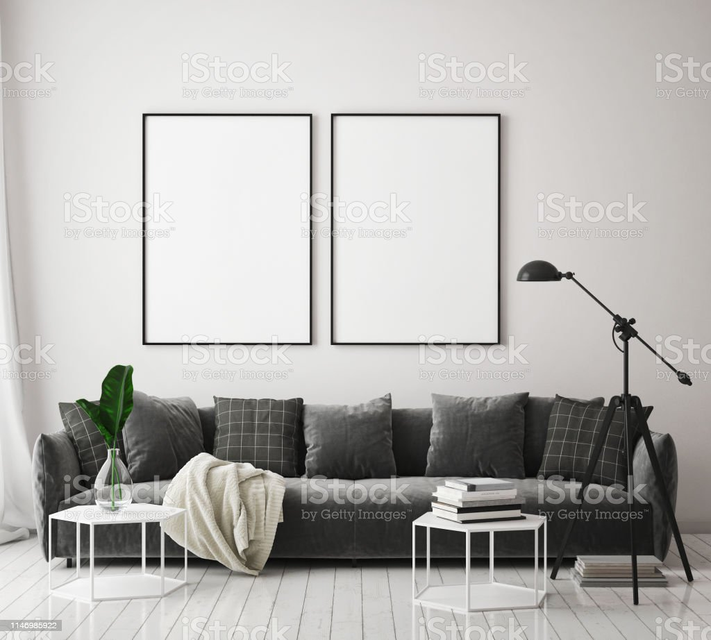 Verhöhen Sie Sich Auf Plakatrahmen Im Wohnzimmer ...