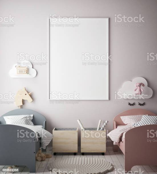 Mock up poster frames in children bedroom scandinavian style interior picture id686649068?b=1&k=6&m=686649068&s=612x612&h=2tiycyfyp 9iw34c2fmupjhfwccgbpv4sgt7pxemdau=