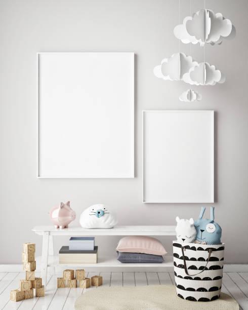 Mock up poster frames in children bedroom scandinavian style interior picture id831639394?b=1&k=6&m=831639394&s=612x612&w=0&h=a 15up6nlmx8kao j80dwzw4vzcqpgcfx0cfboyzqze=