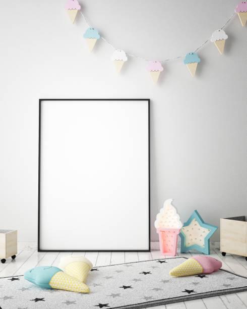Mock up poster frames in children bedroom scandinavian style interior picture id842431088?b=1&k=6&m=842431088&s=612x612&w=0&h=jznfzkolqm2z00bib w3 mjwnspxhvyanthftgb6p9a=