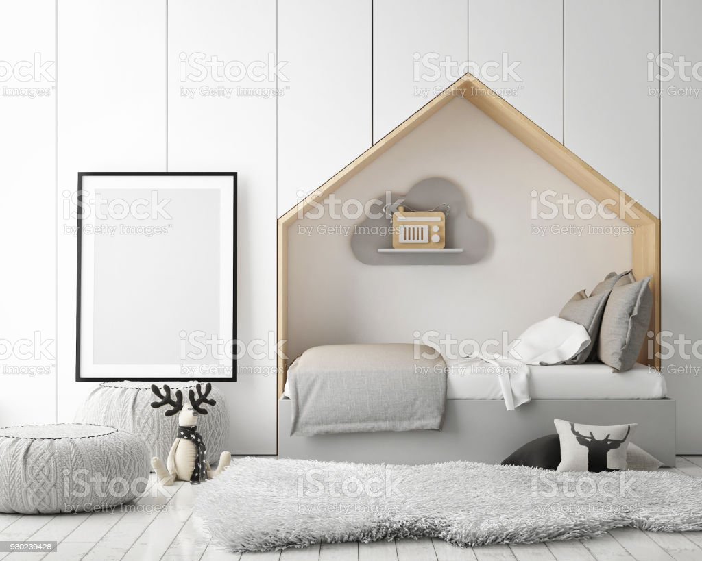 Mock Up Poster Frames In Children Bedroom Scandinavian Style ...