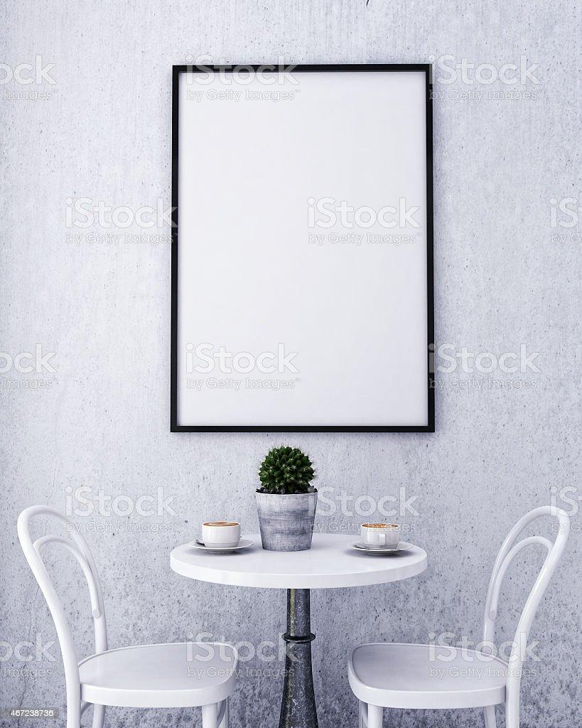 Mock Up Poster Rahmen In Weiß Skandinavische Einrichtung Hintergrund ...