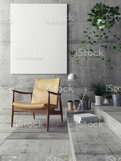 Mock up poster in hipster living room picture id611177560?b=1&k=6&m=611177560&s=612x612&h=ahli05kkynjz4zqvshur im qatxfknj6sj x1e2pf0=