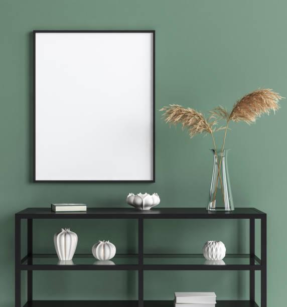mock-up plakat im innenraum hintergrund, modernen stil - bilder poster stock-fotos und bilder