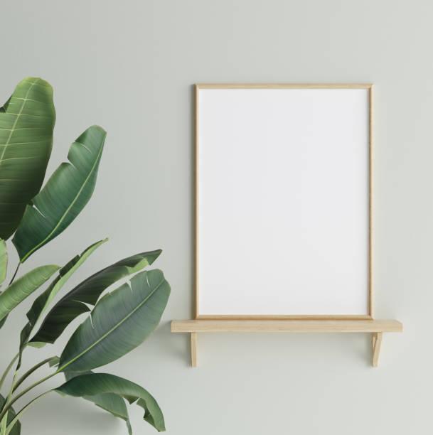 mock-up plakat im innenraum hintergrund, skandinavischen stil - wandmuster stock-fotos und bilder
