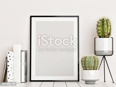 istock Mock up poster, Scandinavian interior concept 865889190