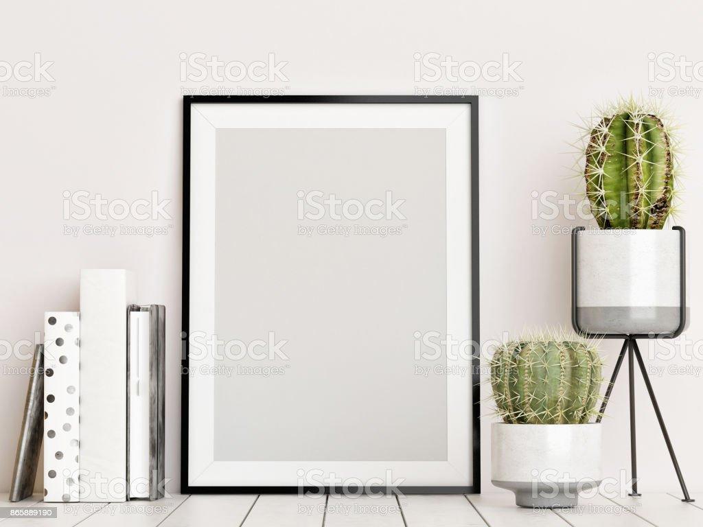 Mock-up-Poster, skandinavischen Innenraum-Konzept – Foto