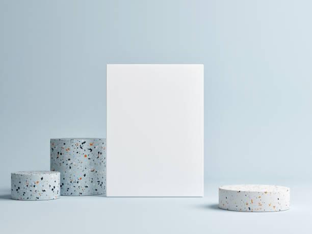 Mock-up-Plakat mit abstrakten Podium für Produktdesign, – Foto