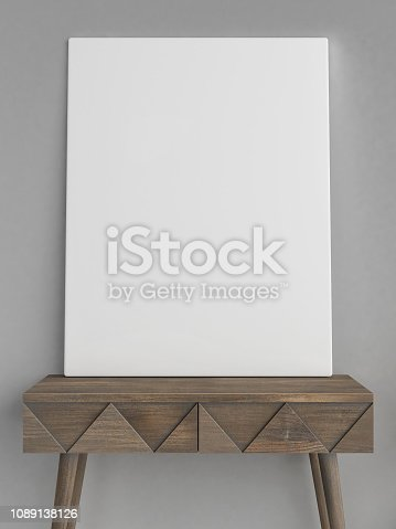 923497490istockphoto Mock up poster with hipster background, hipster decoration 1089138126