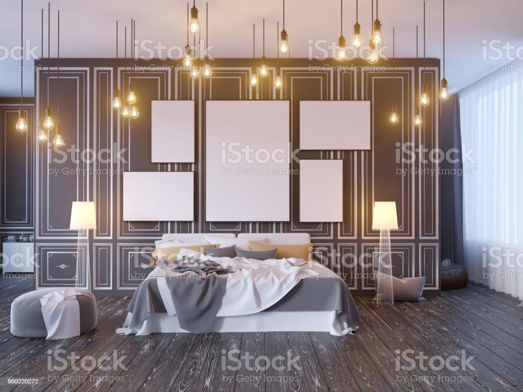 Mock up poster met vintage pastel hipster minimalisme loft