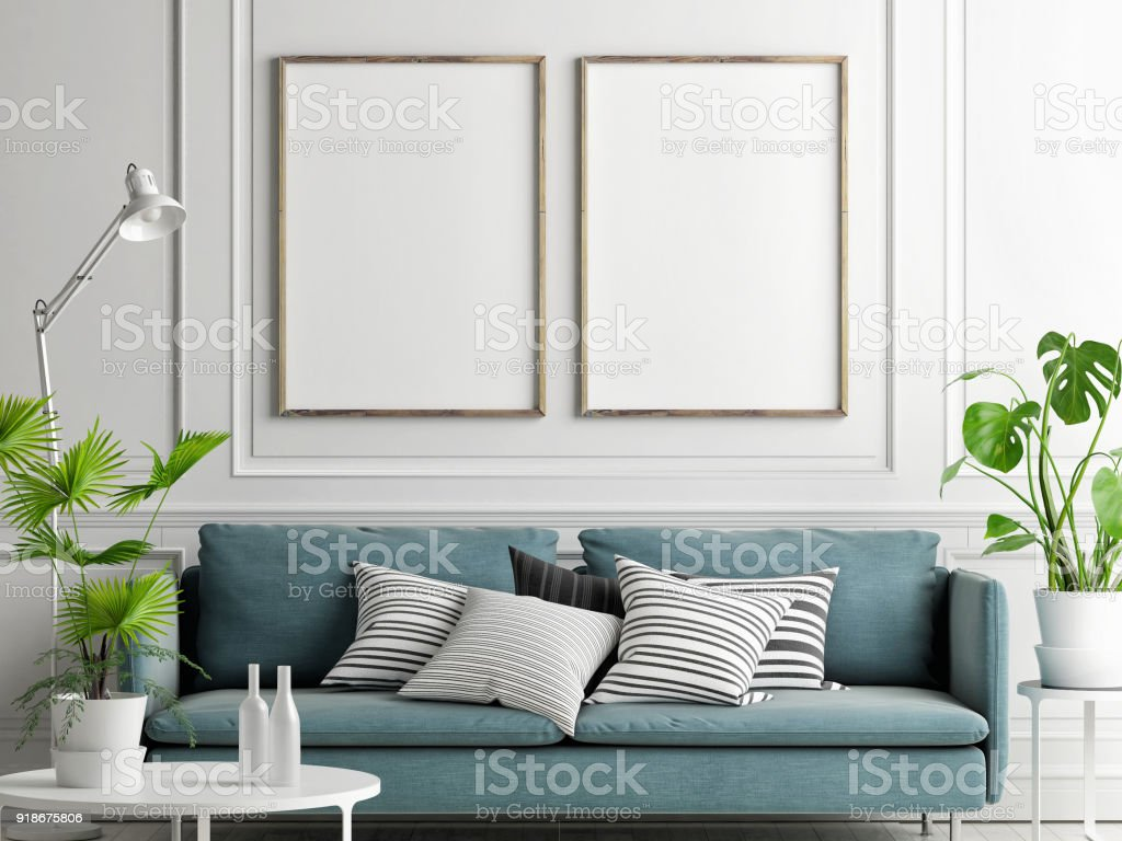 mock-up-posters-pastel-comfortable-sofa-living-room-style-picture-id918675806