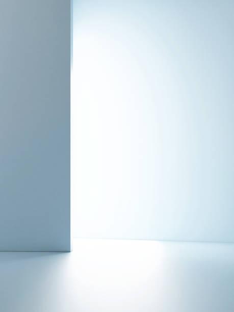 Mock up Studiolicht für Produktpräsentation, blauer Hintergrund – Foto