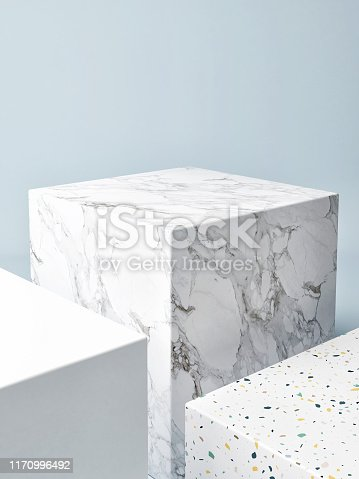 istock Mock up winner podium composition, abstract background 1170996492