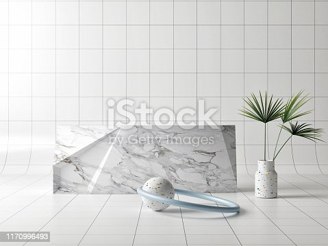 istock Mock up winner podium composition, abstract background 1170996493
