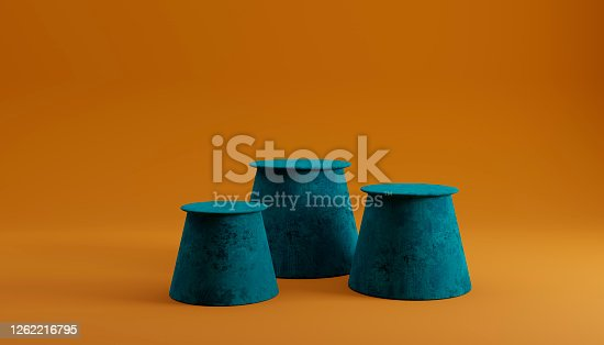 Mock podium composition background, 3d render, 3d illustration
