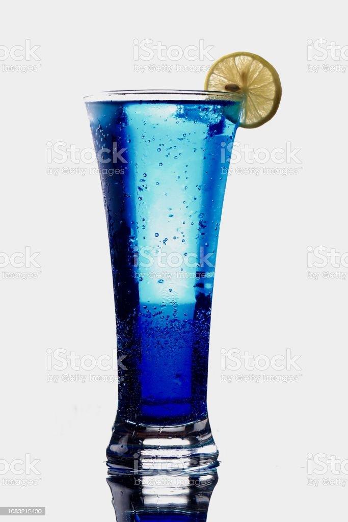 Mocktail blue stock photo