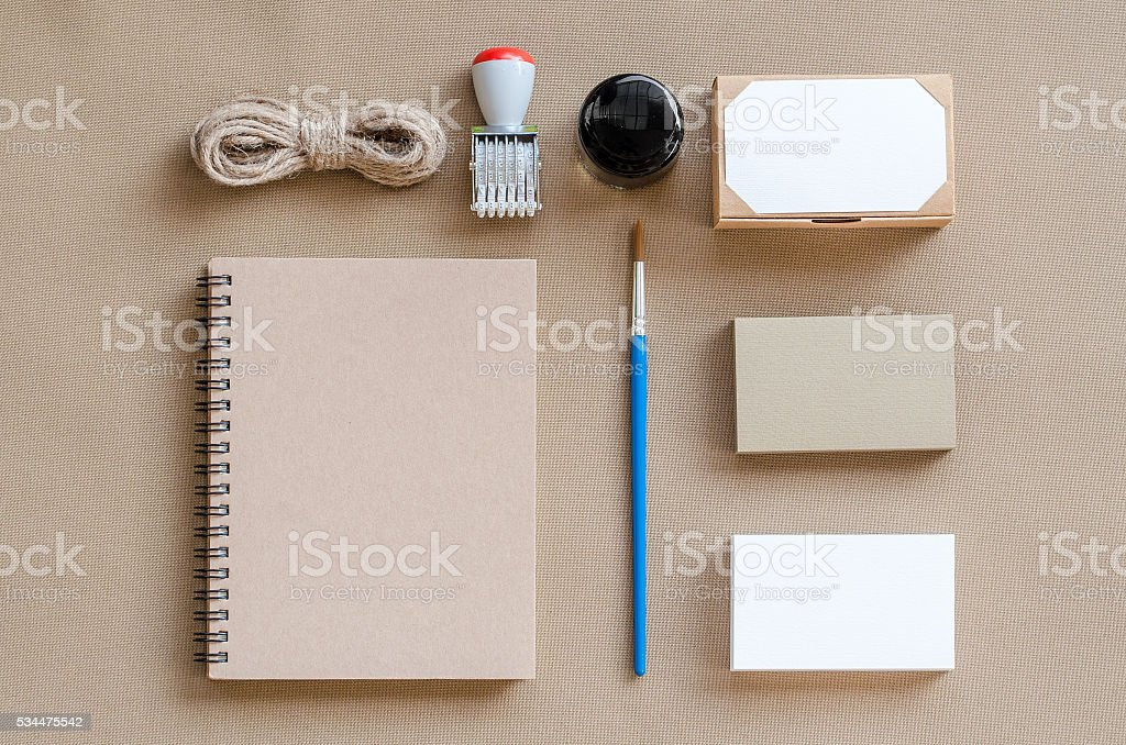 Mock-up. Brand identity template. stock photo