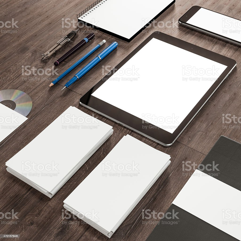 Mockup business template. High resolution. stock photo