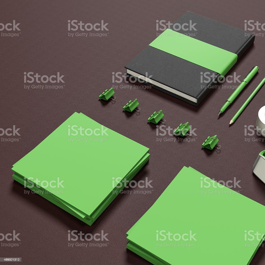 Mockup business template. stock photo