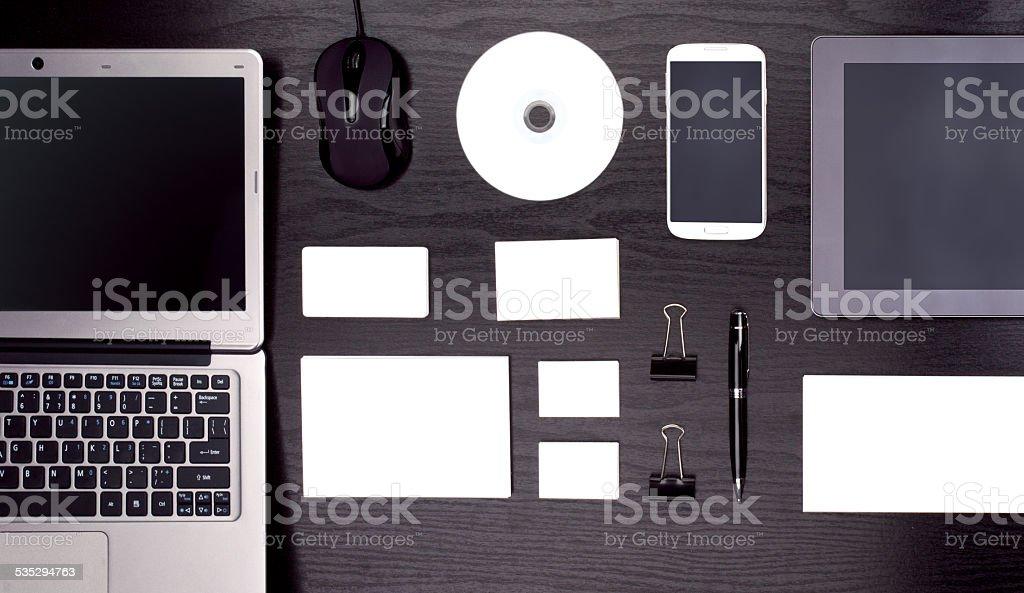 Mockup business template stock photo