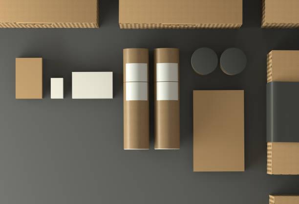 Mockup - Kartonverpackungen – Foto