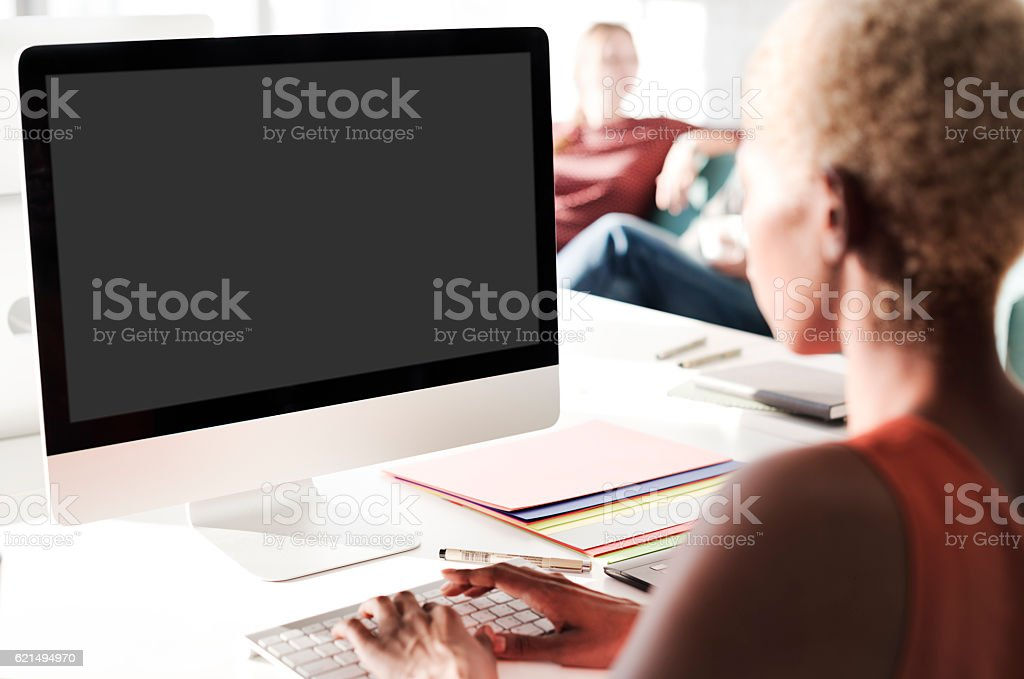 Mockup Textfreiraum leerer Bildschirm Konzept Lizenzfreies stock-foto