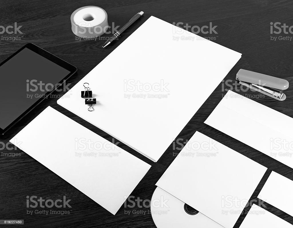 Mockup for branding identity stock photo