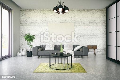 istock Mockup Frame in Living Room 826986096
