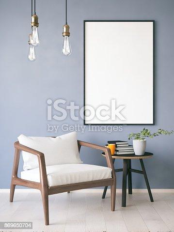 istock Mockup Frame in Living Room 869650704