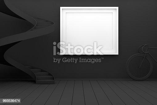 654050754istockphoto Mockup Frame in Living Room 993536474