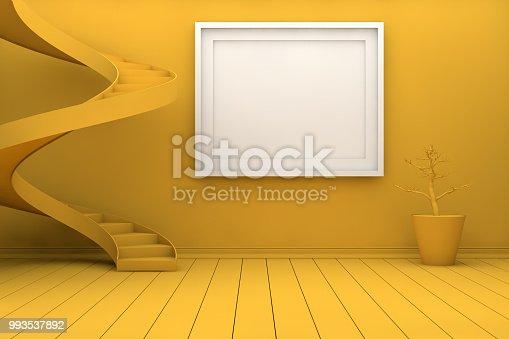 654050754istockphoto Mockup Frame in Living Room 993537892