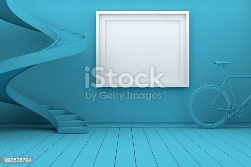 654050754istockphoto Mockup Frame in Living Room 993538764