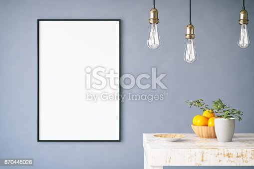 istock Mockup Frame with Table 870445026