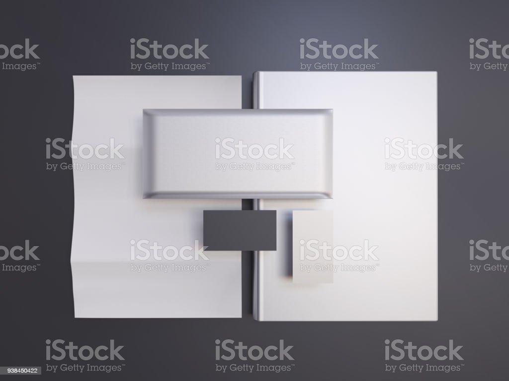 Mockup identity stock photo