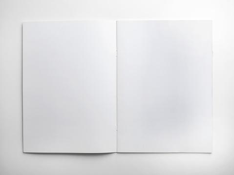 Mock-up magazines, book or catalog on white background.