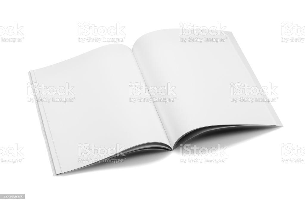 Magazines de maquette, livre ou catalogue sur fond de tableau blanc. photo libre de droits