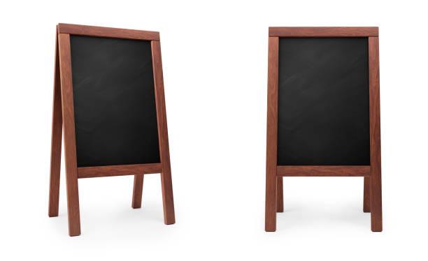utkast meny blackboard, 3d-rendering - wood sign isolated bildbanksfoton och bilder